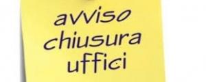 chiusura estiva uffici decentrati (luglio / agosto 2018)